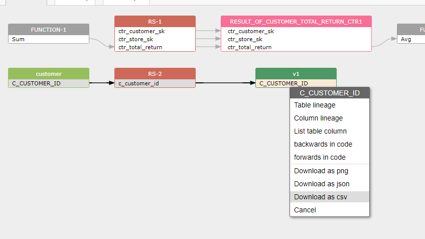 data lineage in csv